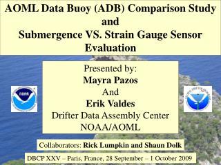 AOML Data Buoy ADB Comparison Study