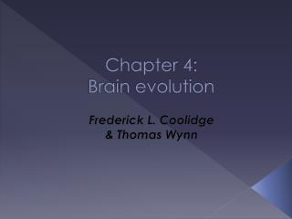 Chapter 4:  Brain evolution