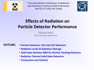 Effects of Radiation on  Particle Detector Performance