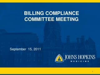 BILLING COMPLIANCE COMMITTEE MEETING
