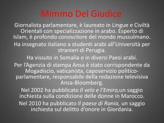 Mimmo Del Giudice