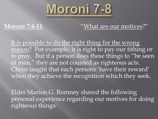 Moroni 7-8