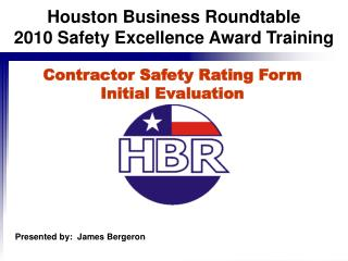 Contractor Safety Rating Form Initial Evaluation