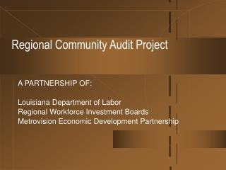 Regional Community Audit Project