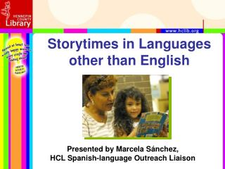 Storytimes in Languages other than English