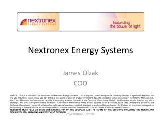Nextronex Energy Systems