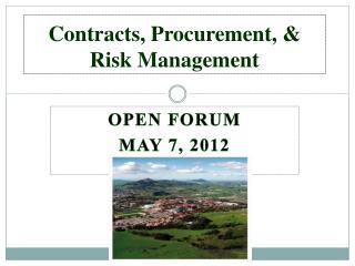 Contracts, Procurement,  Risk Management