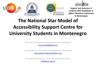 Support and inclusion of students with disabilities at higher education institutions in Montenegro