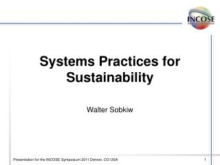 Systems Practices for Sustainability