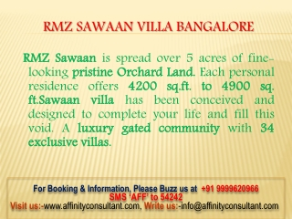 RMZ Sawaan Project @9999620966 Buy!!!