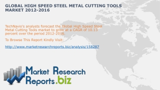 Global High Speed Steel Metal Cutting ToolsIndustry Analysis
