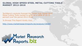 Global High Speed Steel Metal Cutting ToolsIndustry Analysis