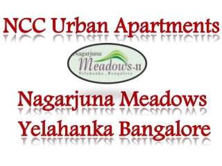 NCC Urban Apartments Bangalore 09999620966