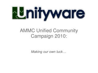 AMMC Unified Community Campaign 2010: