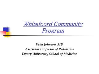 Whitefoord Community Program