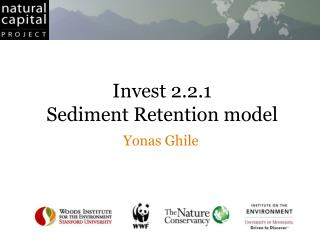 Invest 2.2.1 Sediment Retention model