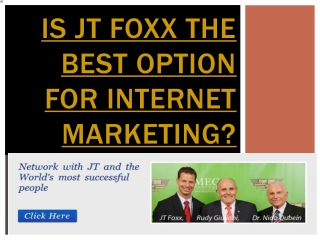 Is JT Foxx the best Option For Internet Market