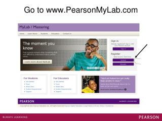 Go to PearsonMyLab