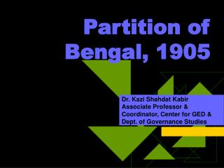 Partition of Bengal, 1905
