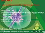 SCOAP3 a new publishing model for High-Energy Physics