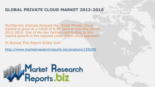 Global Private Cloud Industry Trends2012-2016:MarketResearch