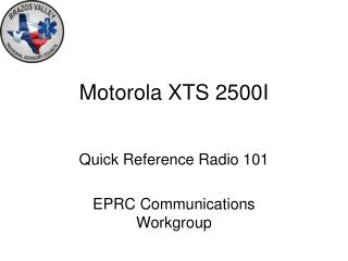 Motorola XTS 2500I