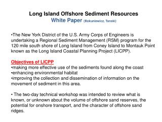 Long Island Offshore Sediment Resources White Paper Bokuniewicz, Tanski