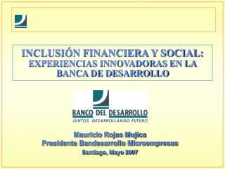 INCLUSI N FINANCIERA Y SOCIAL: EXPERIENCIAS INNOVADORAS EN LA BANCA DE DESARROLLO