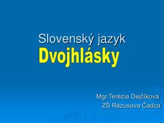 Slovensk  jazyk