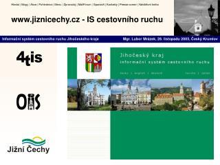 Jiznicechy.cz - IS cestovn ho ruchu