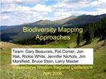Biodiversity Mapping Approaches