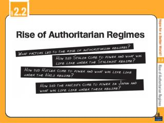 What factors led to the rise of the authoritarian regimes