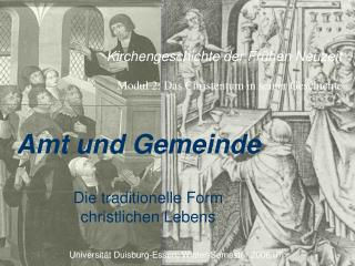 Kirchengeschichte der Fr hen Neuzeit