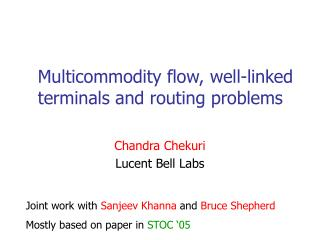 Multicommodity flow, well-linked  terminals and routing problems