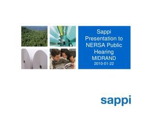 Sappi Presentation to NERSA Public Hearing  MIDRAND 2010-01-22
