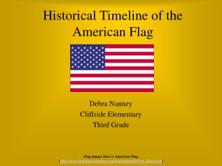 Historical Timeline of the American Flag
