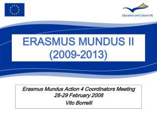 ERASMUS MUNDUS II 2009-2013