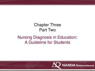 Nursing Diagnosis in Education: A Guideline for Students