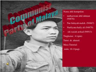 Communist   Party  of Malaya