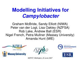 Modelling Initiatives for Campylobacter
