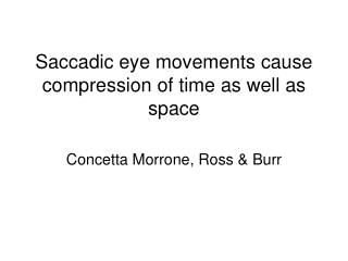 Saccadic eye movements cause compression of time as well as space