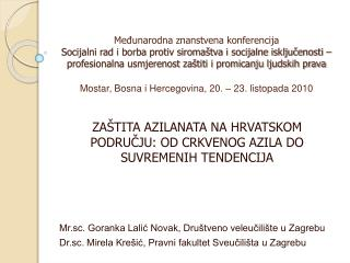 Medunarodna znanstvena konferencija Socijalni rad i borba protiv siroma tva i socijalne iskljucenosti   profesionalna us