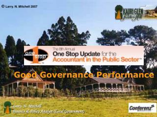 Good Governance Performance