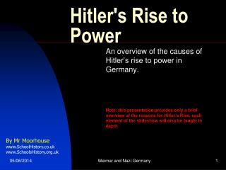 Hitlers Rise to Power