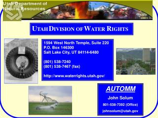 1594 West North Temple, Suite 220 P.O. Box 146300 Salt Lake City, UT 84114-6480   801 538-7240 801 538-7467 fax  waterri