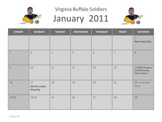 Virginia Buffalo Soldiers January  2011