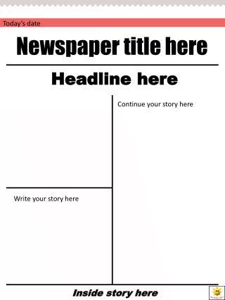 Newspaper title here