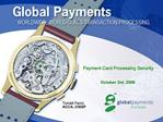 Payment Card Processing Security