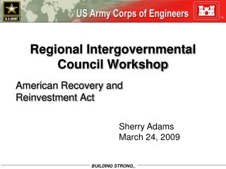 Regional Intergovernmental Council Workshop