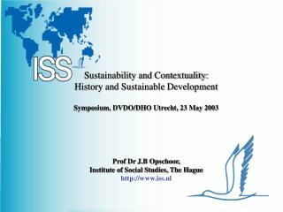 Sustainability and Contextuality: History and Sustainable Development  Symposium, DVDO